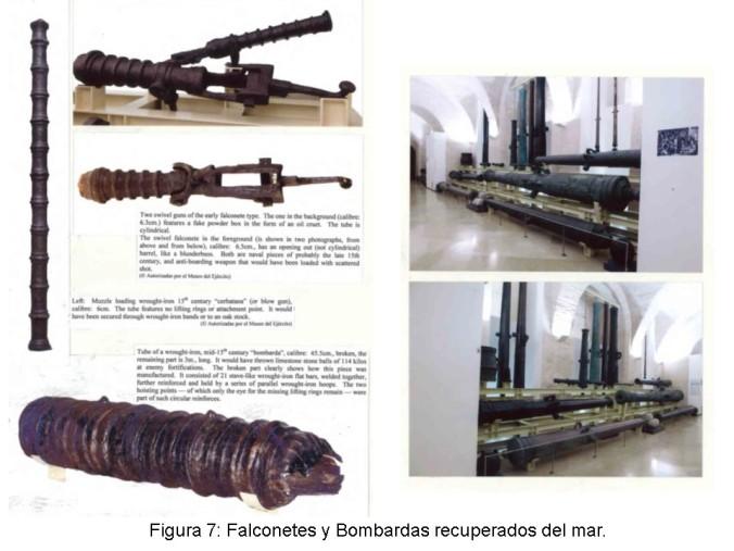 Ejemplos de armas recuperadas.